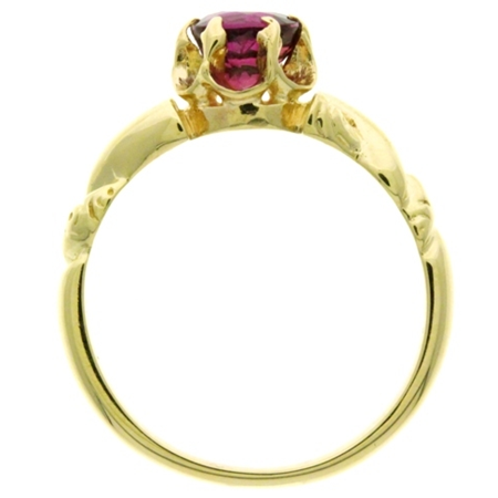 Ruby .85ct Victorian Revival Ring in 14kt