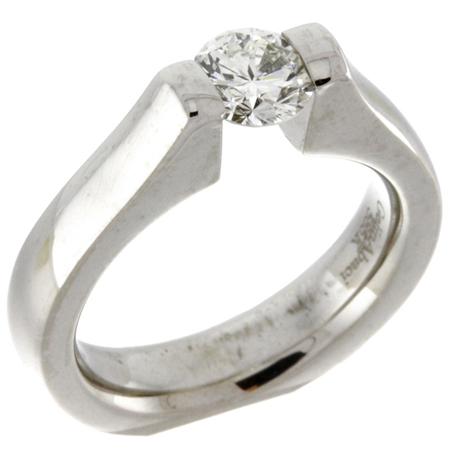 .65ct Diamond Tension-Set Solitaire Ring in 14kt